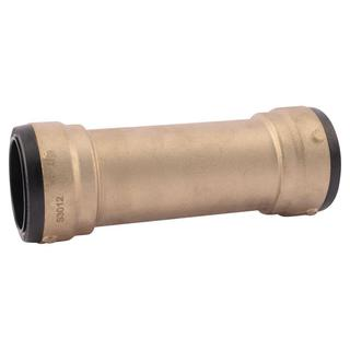 Cash Acme 2 in. Brass Push-to-Connect Slip Coupling