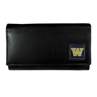 Women's NCAA Washington Huskies Sports Team Logo Leather Wallet