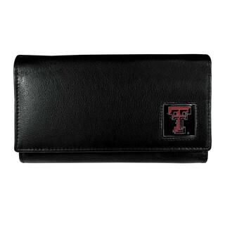 NCAA Texas Tech Raiders Women's Sports Team Logo Black Leather Wallet