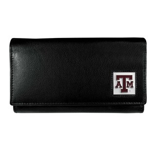 NCAA Texas A and M Aggies Sports Team Logo Women's Black Leather Wallet