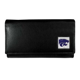 Women's NCAA Kansas St. Wildcats Black Leather Wallet