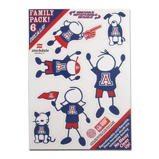 NCAA Arizona Wildcats Multicolored Sports team Logo Family Decal Set