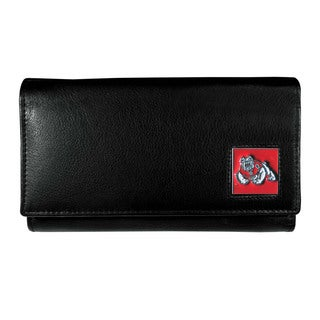 NCAA Fresno State Bulldogs Sports Team Logo Leather Women's Wallet
