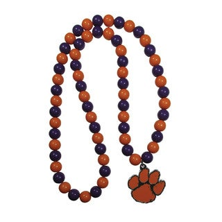 NCAA Clemson TigersMulticolored Sports Team Logo Fan Bead Necklace
