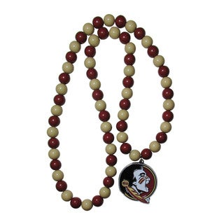 NCAA Florida State Seminoles Sports Team Logo Pendant Bead Fan Necklace