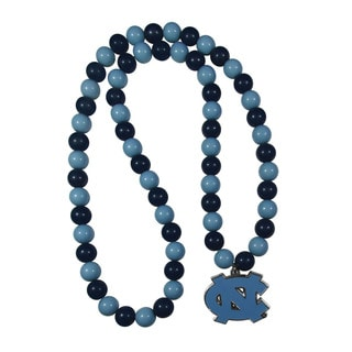 North Carolina Tar Heels Team Logo Fan Bead Necklace