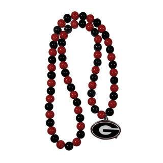 NCAA Georgia Bulldogs Sports Team Logo Fan Bead Necklace