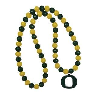 NCAA Oregon Ducks Sports Team Logo Fan Bead Necklace