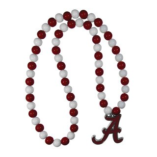 NCAA Alabama Crimson Tide Sports Team Logo Fan Bead Necklace