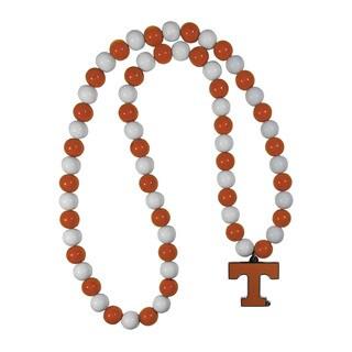 NCAA Tennessee Volunteers Orange/White Sports Team Logo Fan Bead Necklace