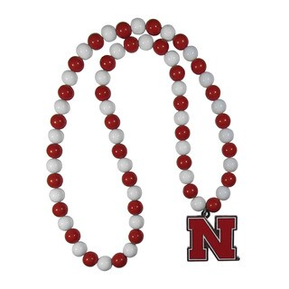NCAA Nebraska Cornhuskers Sports Team Logo Fan Bead Necklace