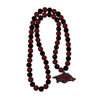 NCAA Arkansas Razorbacks Sports Team Logo Fan Bead Necklace