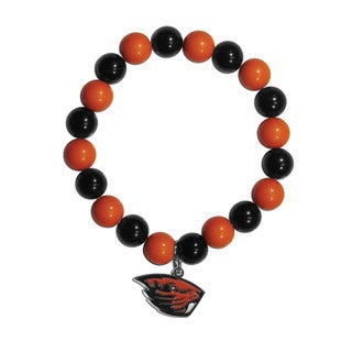 NCAA Oregon State Beavers Multicolored Sports Team Logo Fan Bead Bracelet