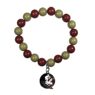 NCAA Florida St. Seminoles Beaded Bracelet