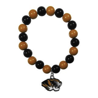 NCAA Missouri Tigers Beaded Bracelet