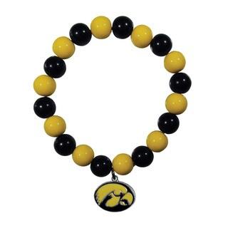 NCAA Iowa Hawkeyes Sports Team Logo Fan Bead Bracelet