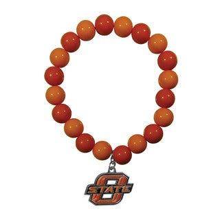Oklahoma State Cowboys Team Logo Fan Bead Bracelet