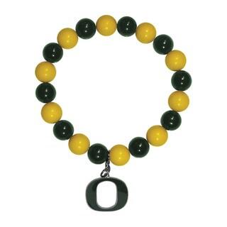 NCAA Oregon Ducks Sports Team Logo Fan Bead Bracelet