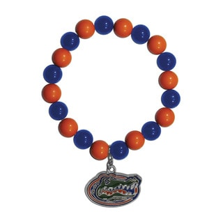 NCAA Florida Gators Sports Team Logo Fan Bead Bracelet