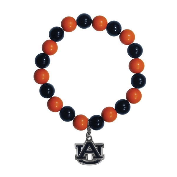 NCAA Auburn Tigers Beaded Bracelet