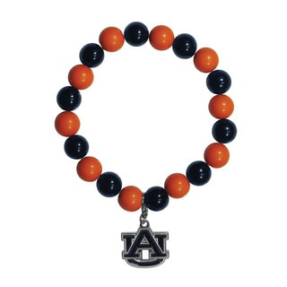 NCAA Auburn Tigers Beaded Bracelet