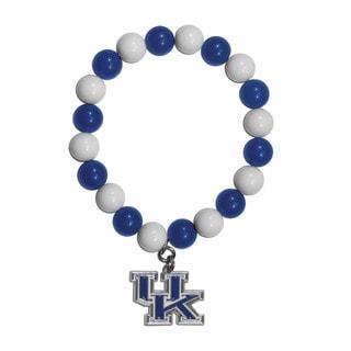 NCAA Kentucky Wildcats Sports Team Logo Fan Bead Bracelet