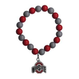 NCAA Ohio State Buckeyes Sports Team Logo Fan Bead Bracelet