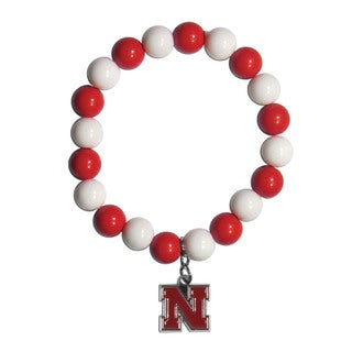 NCAA Nebraska Cornhuskers Beaded Bracelet