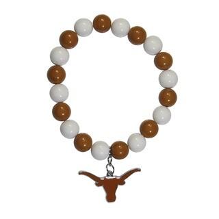 Texas Longhorns Team Logo Fan Bead Bracelet