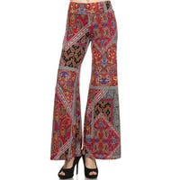 Women's Multicolor Polyester/Spandex Palazzo Pants