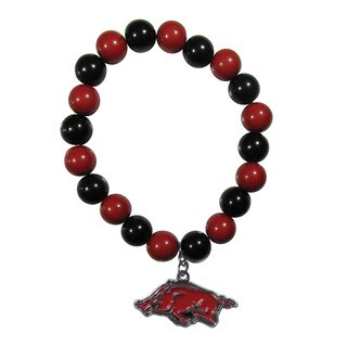 NCAA Arkansas Razorbacks Sports Team Logo Fan Bead Bracelet