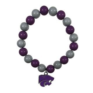 Kansas State Wildcats Team Logo Fan Bead Bracelet