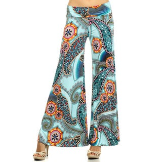 Women's Multicolor Spandex and Polyester Palazzo Pattern Pants