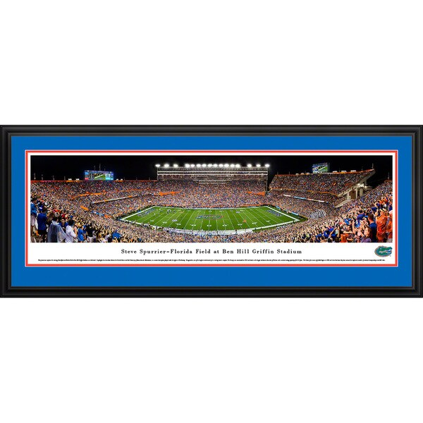 Blakeway Panoramas 'Florida Gators Football - 50-yard Line' Framed Print