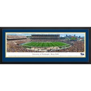 Blakeway Panoramas 'Pittsburgh Panthers Football 50-yard Line' Framed Print