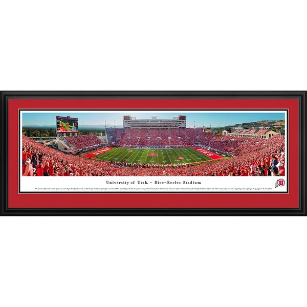 Blakeway Panoramas 'Utah Utes Football 50 Yard Line' Framed Print