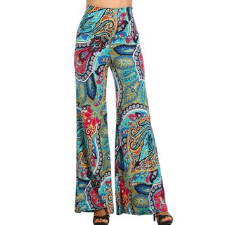 Women's Multicolor Pattern Polyester/Spandex Palazzo-style Pants