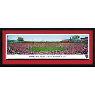 Blakeway Panoramas 'Lambeau Field College Classic - Wisconsin vs LSU' Framed Print