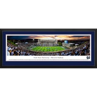 Blakeway Panoramas 'Utah State Football 50-yard Line' Framed Print