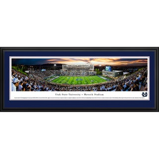 Blakeway Panoramas 'Utah State Football 50-yard Line' Framed Print (3 options available)