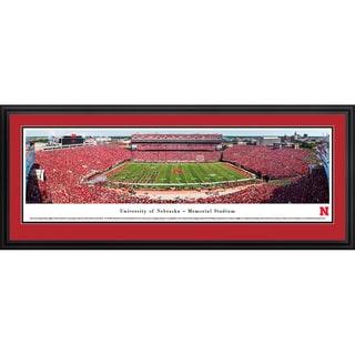 Blakeway Panoramas 'Nebraska Cornhuskers Football 50-yard Line' Framed Print