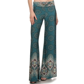 Women's Palazzo Pattern Poly-blend Pants