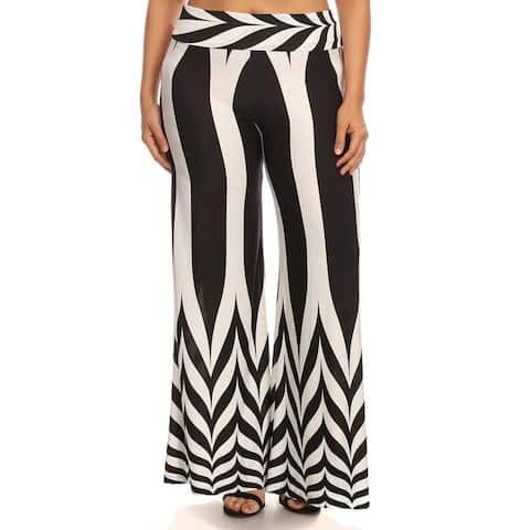 Plus Size Women's Polyester Palazzo Pants