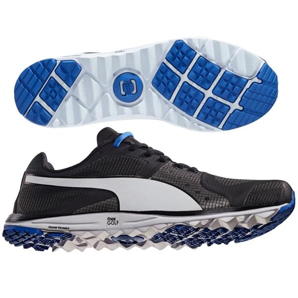 PUMA FAAS Xlite Golf Shoes 18758601 Black/White/Blue