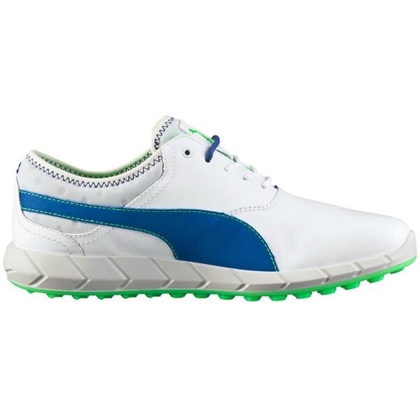 PUMA Ignite Spikeless Golf Shoes 2016 White/Blue/Green Gecko