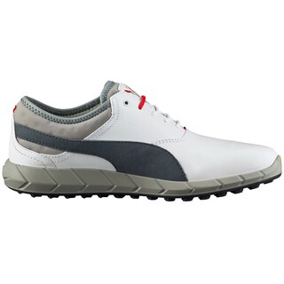 PUMA Ignite Spikeless Golf Shoes 2016 White/Grey/ Red