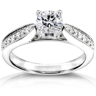 Annello by Kobelli 14k White Gold Certified 3/4ct TDW Diamond Eco-Friendly Lab Grown Diamond Antique