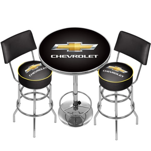 Chevrolet Game Room Combo - 2 Stools w/ Back & Table