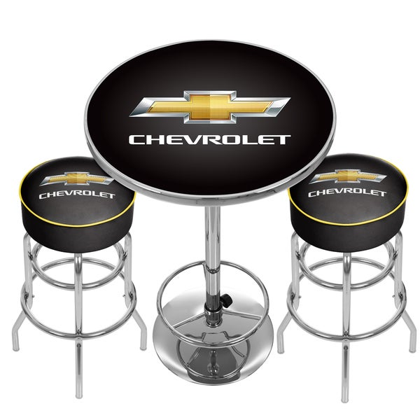 Chevrolet Racing Combo 2 Bar Stools And Table Free