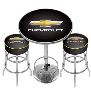 Chevrolet Game Room Combo 2 Stools W Back Amp Table